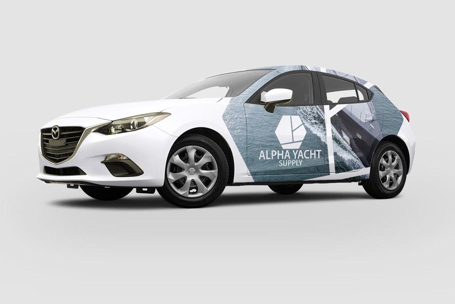 Auto belettering ontwerp plakken