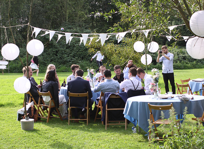 Versiering bruiloft