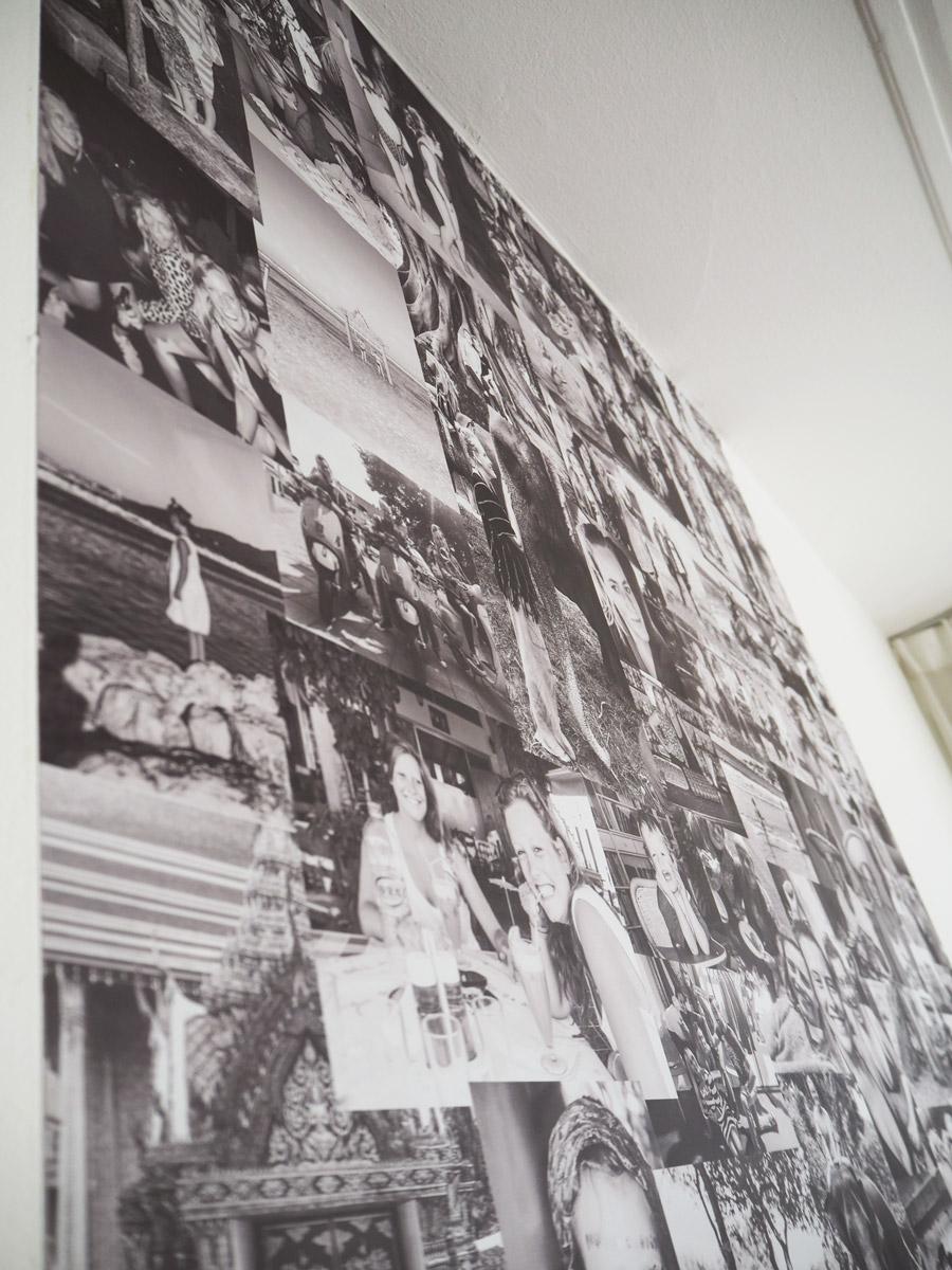 Zelfklevend behang foto collage