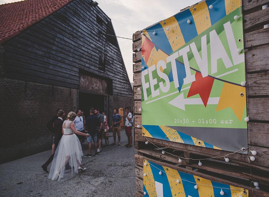 festival spandoek wedding