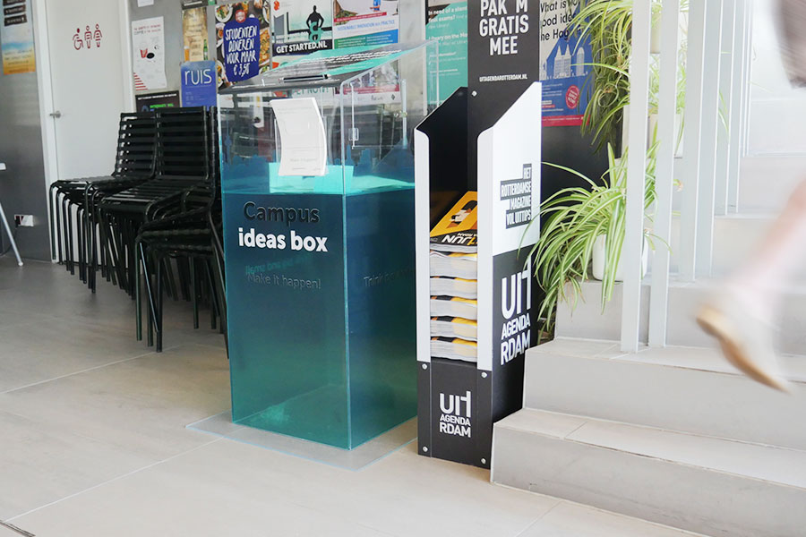 Campus Ideas Box belettering