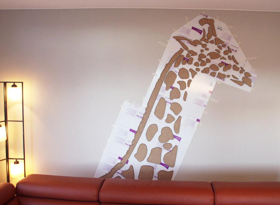 Giraf van mdf