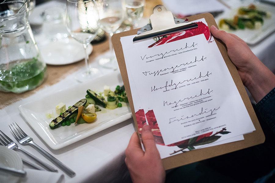 menukaart design restaurant