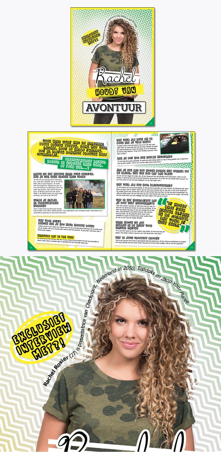 Rachel checkpoint magazine ontwerp
