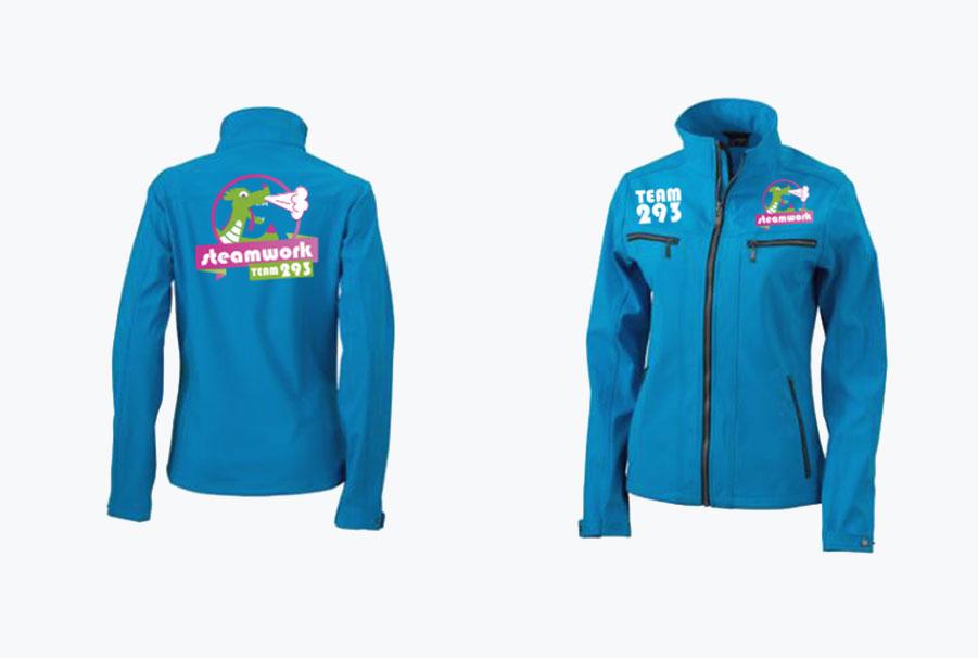logo op jas geprint