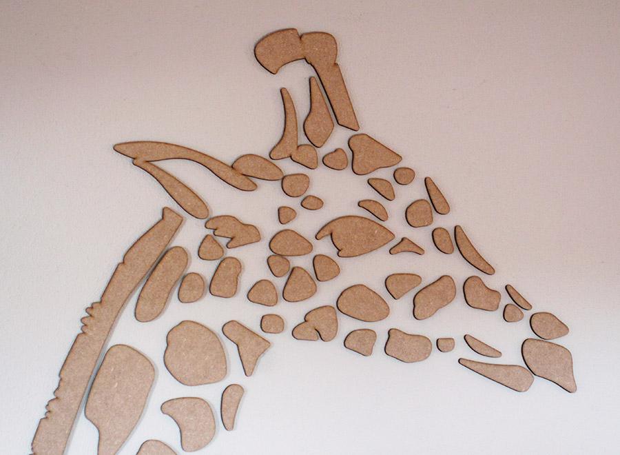 Dieren van hout Giraf Blijdorp