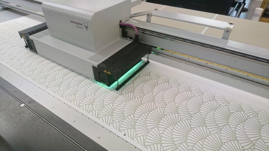 Behang printen glasvezel schelpjes patroon