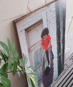 Foto op karton geprint