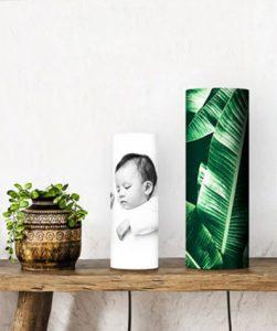 baby foto op lamp geprint