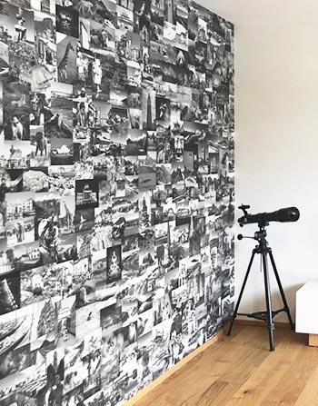 vlies behang foto collage