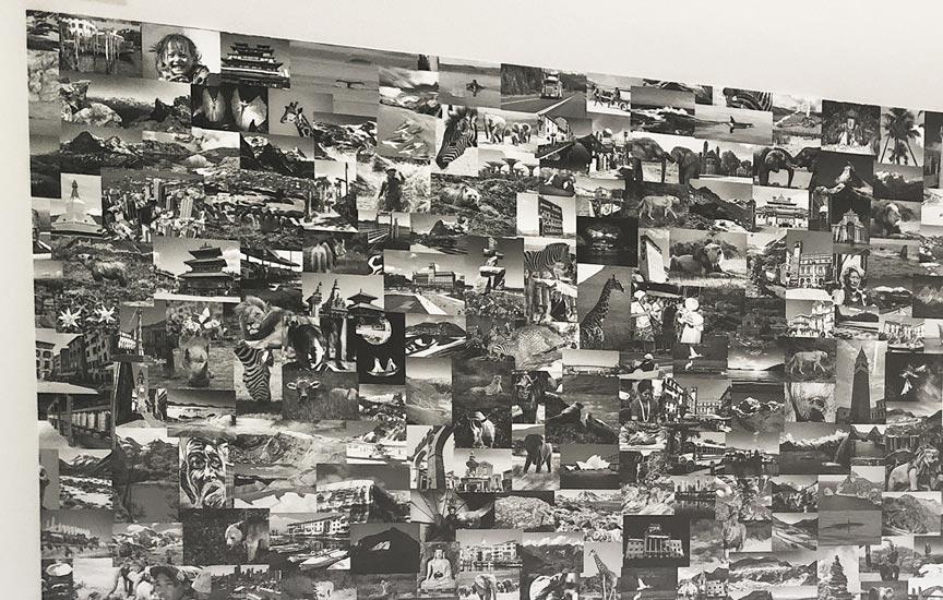 Maatwerk foto collage glasvezel behang
